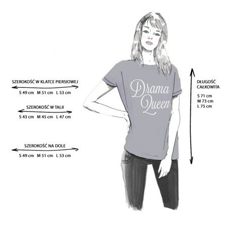 T-SHIRT DRAMA QUEEN EDYTA GÓRNIAK FOR NAOKO SZARY JASNY (DRAMA)