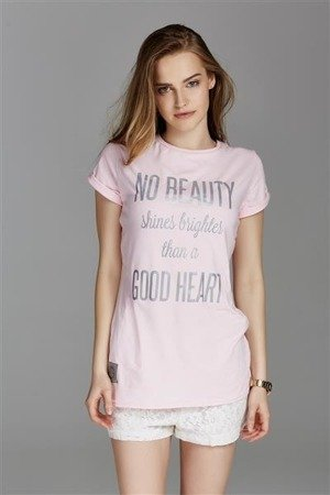 T-SHIRT NO BEAUTY EDYTA GÓRNIAK FOR NAOKO PUDROWY RÓŻ (BEAUTY)