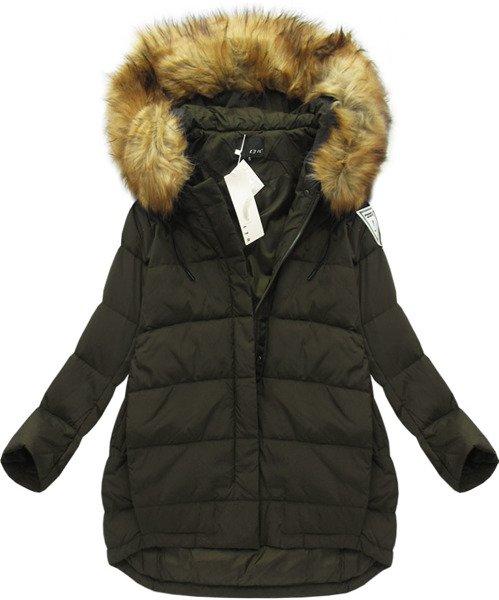 kurtka damska zimowa puch naturalny ocieplana