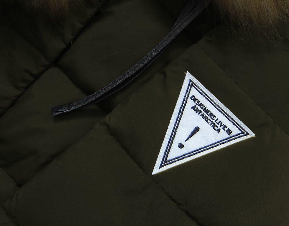 Kurtka z puchem naturalnym khaki (8062) khaki (LJR