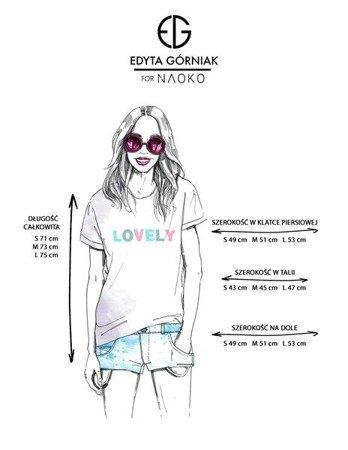 T-SHIRT LOVELY EDYTA GÓRNIAK FOR NAOKO BIAŁY (LOVELY)