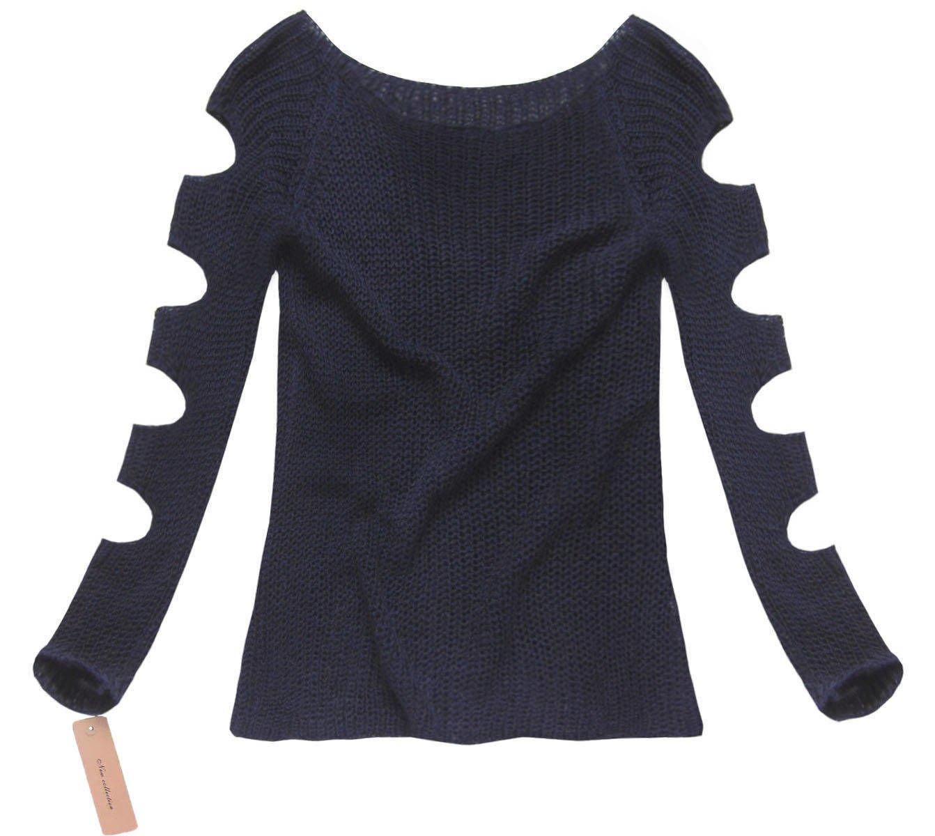 House design kurtki - A Urowy Sweter Granatowy Good120