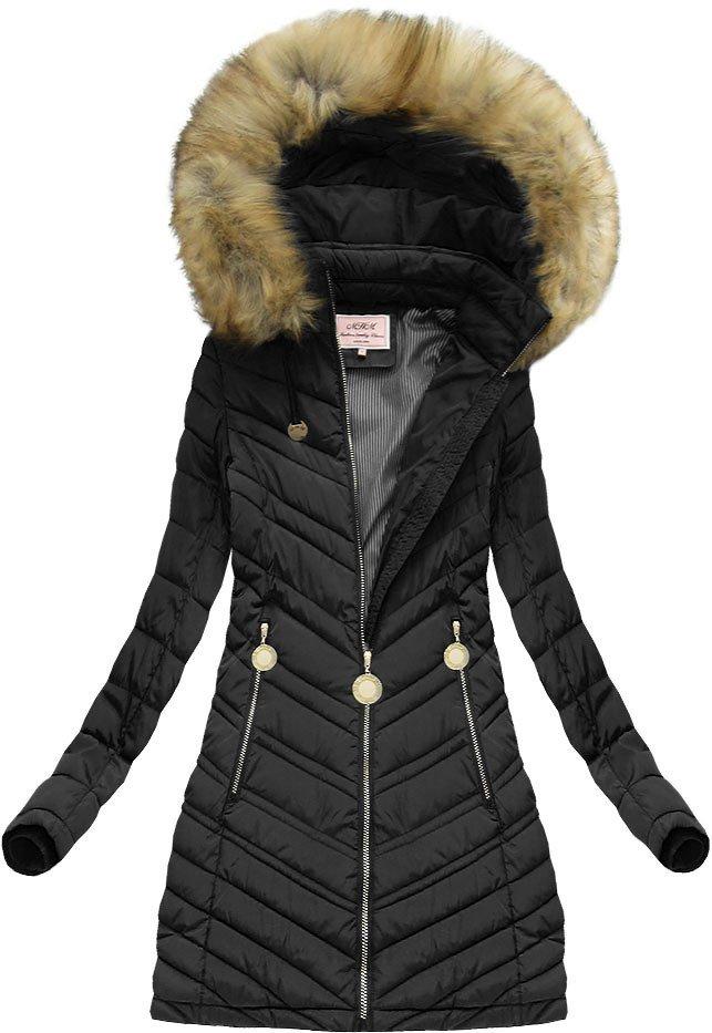 damska kurtka zimowa z zintegrowanym kapturem